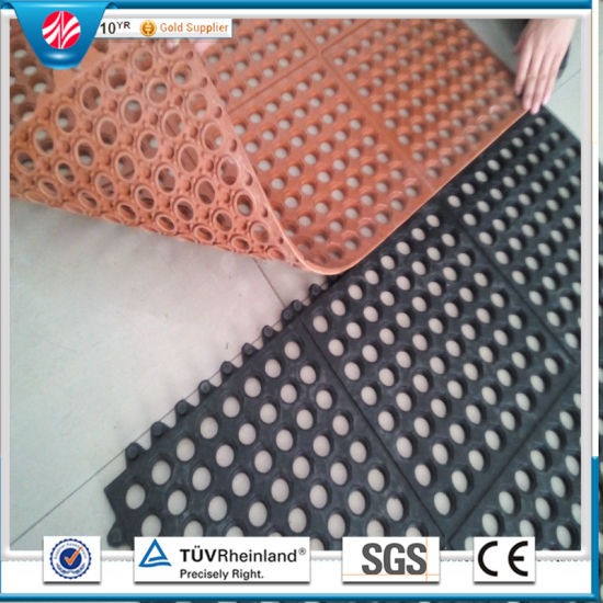 Soft Rubber Mat, Interlocking Rubber Mat, Kitchen Rubber Mat Drainage Rubber  Mat