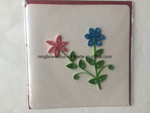 China Handmade Paper 3d Quilling Greeting Cards Quilling Birthday