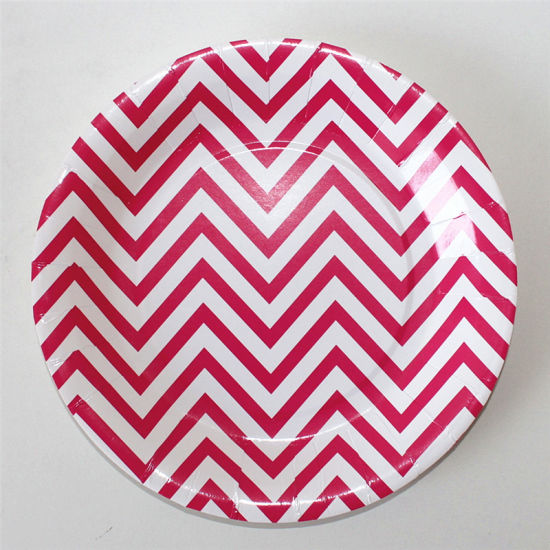9  Party Paper Plate Round Chevron Paper Plates for Party  sc 1 st  Suzhou King Fly Paper Products u0026 Technology Co. Ltd. & China 9