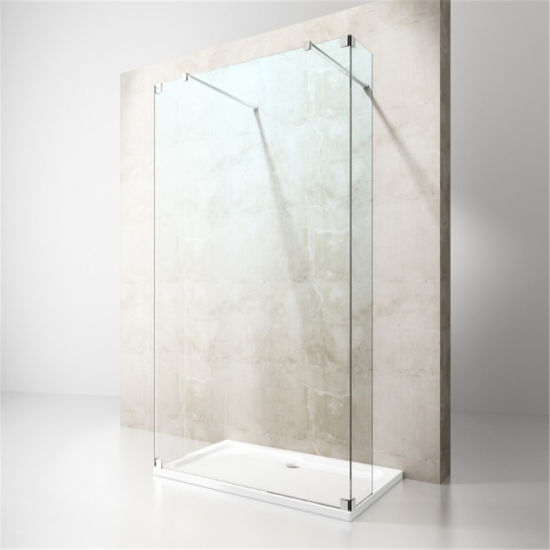 High Quality Simple Shower Enclosure with Stainless Steel Hinge and Towel Bar