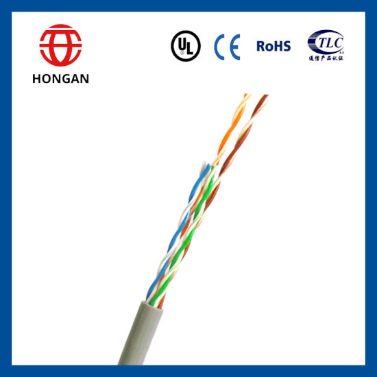 0.5mm 24AWG CCA UTP Cat5 Data Cable with 4 Pairs