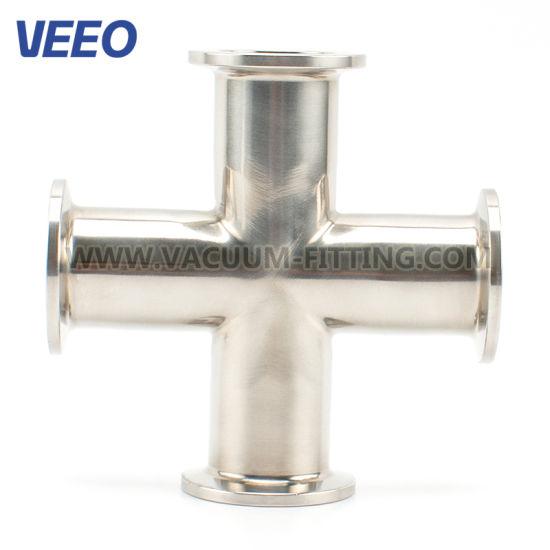 Vacuum Fittings Stainless Steel ISO-Kf Mirror 4-Way Crosses