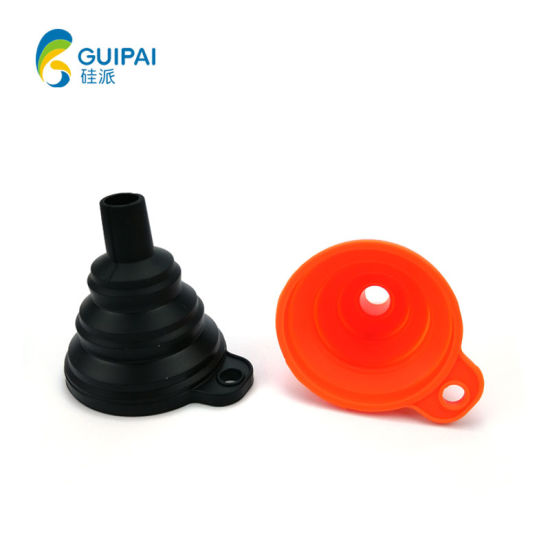 Eco-Friendly Custom Portable Collapsible Hopper Silicone Mini Funnel