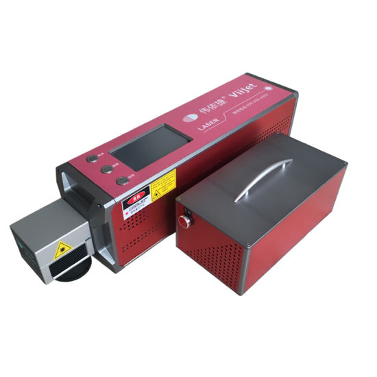 High Speed CO2 Laser Marking Machine for PVC Pipe Sewer Pipe on-Line Laser Coding Machine for Non-Metal Building Materials