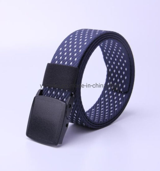 Polka Dots Men Casual Sport Waistband Nylon Fabric Belt