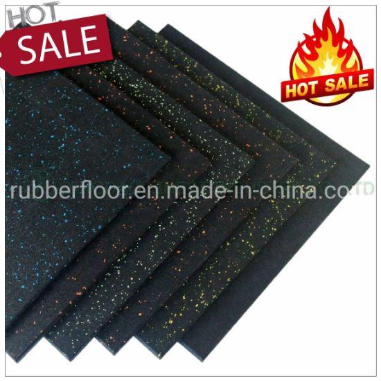 China Premium Crossfit Natural Rubber Flooring Tile Matting Gym Rubber Floor Mat for Gym Fitness Center Gym Equipment