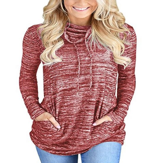 Womens Fashion High Neck Casual Baggy Jumper Knitted Warm Chunky Sweater