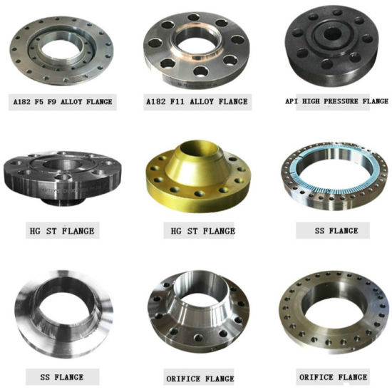 Pipe Fitting ASME B16.9 304L Stainless Steel/Carbon Steel A105 Forged/Flat/Slip-on/Orifice/ Lap Joint/Soket Weld/Blind /Welding Neck Flanges