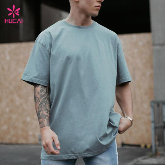 Custom 100% Cotton Mens Casual Oversized T Shirt