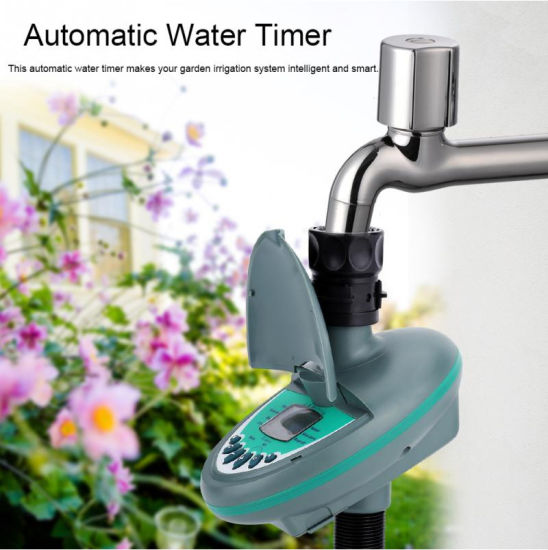Battery Irrigation Controller for 3/4-Inch Taps, LCD Display, Waterproof Structure
