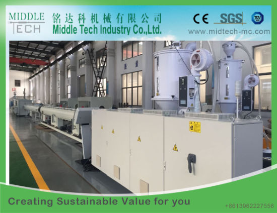 (China wholesale price) Plastic PE PP LDPE Dual Water/Gas Pipe Extruder Machinery