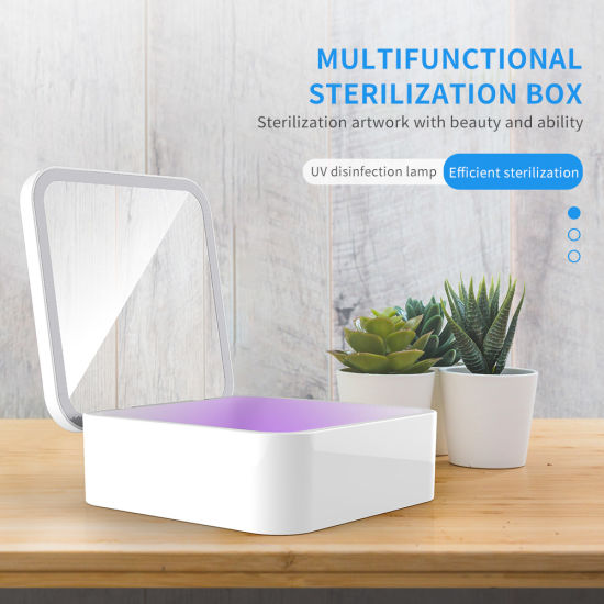 Make-up Sanitizer Fill-Light Box Wireless Charging UV Sterilizer Storage Box