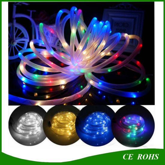 super popular 4f6b0 b2732 [Hot Item] 10m 100 LEDs Solar LED Rope Tube String Fairy Lights Waterproof  Outdoor Garden Christmas Party Decor Lights