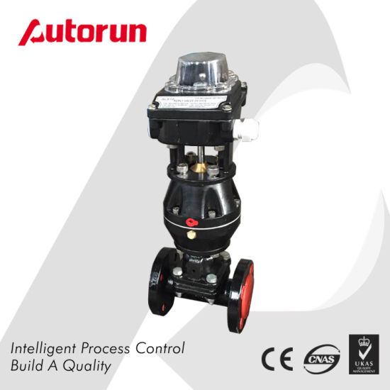 Cast Steel Rubber-Lined Diaphragm Valve with Spring Return Pneumatic Actuator pictures & photos