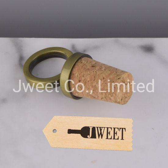 Decorative Metal Lids Synthetic Corks for Vodka Wine Bottle Caps