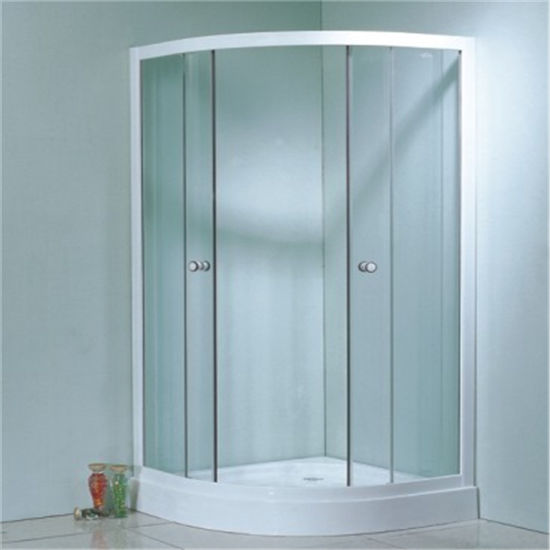 Hot Sale Sanitary Ware Low Price Sliding Simple Glass Shower Cabin 80X80