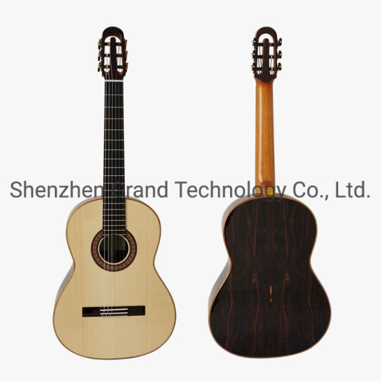 Custom Yulong Guo a-Echoes Brand Nomex Double Top Aaaa All Solid Classical Guitar