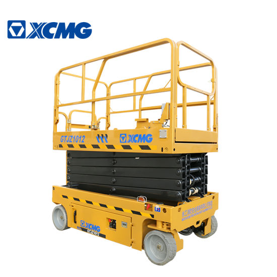 XCMG Brand New Gtjz1012 10m Mobile Electric Hydraulic Cheap Light Remote Aerial Work Platform Scissor Lift Table Price