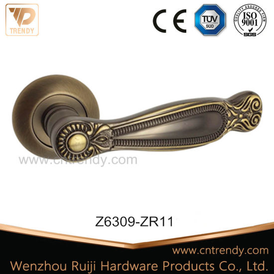 China Classic Zinc Latch Hardware Handle For Entry Interior Door