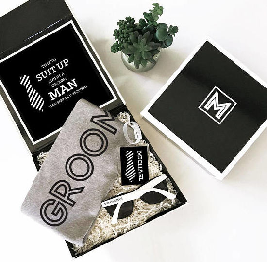 China Will You Be My Groomsman Groomsmen Proposal Gift Box For Men