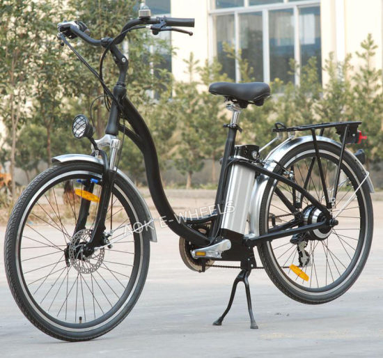 City Lithium Battery Electric Bike with LED Headlight (TDE-001)