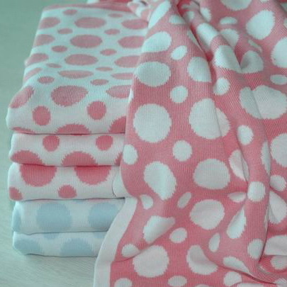 100% Cotton Reversible Knit Baby Blanket pictures & photos
