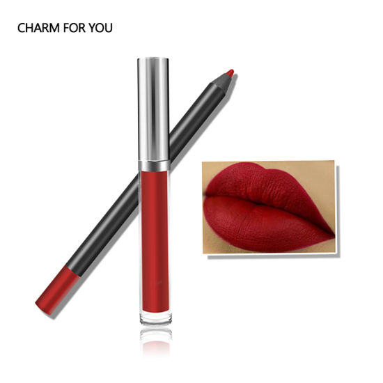 Private Label Liquid Lipstick Set with Lip Liner Pencil Makeup Lip Gloss Waterproof 13 Colors Long Lasting pictures & photos