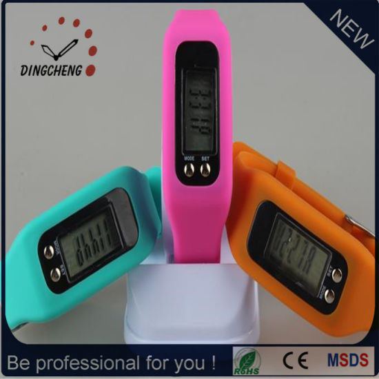 Fashion Pedometer Wristwatch Silicone Men's Watch (DC-JBX054)