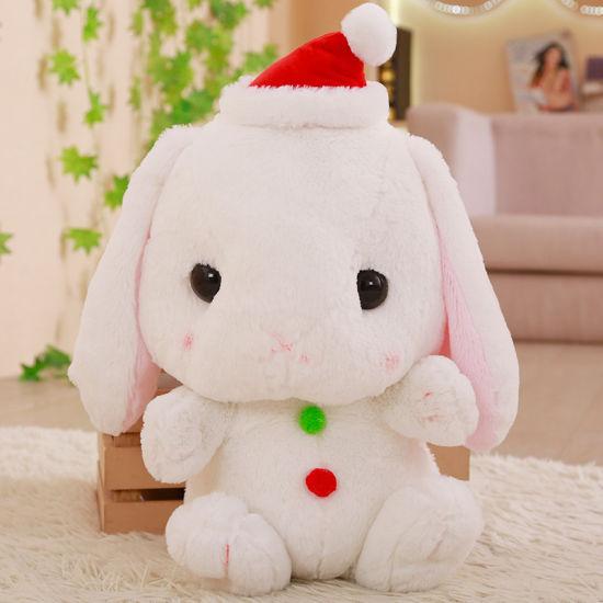China Cute 6 Merry Christmas Rabbit Bunny Plush Toy Soft Stuffed