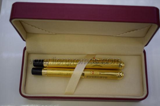 Corporate Anniversary Meeting Souvenir Gift Pair Golden Color Metal Pen Set