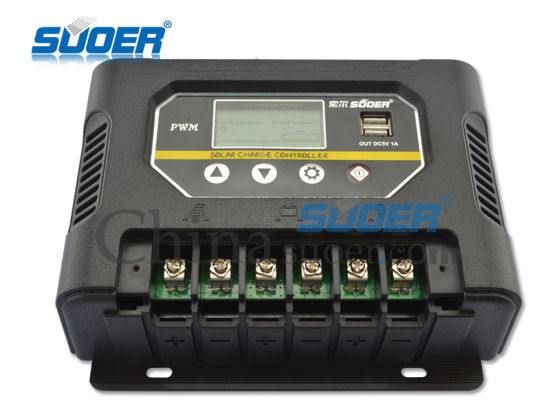 Suoer 60A 12V 24V Solar Power Controller (ST-W1260) pictures & photos