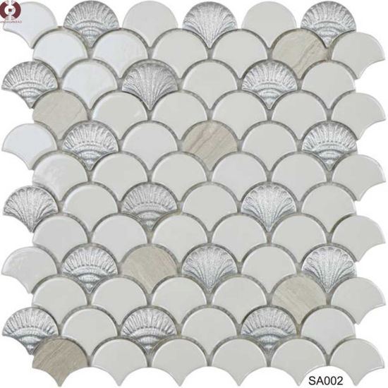 Building Material Ceramic Glass Marble Mosaic Wall Tile (SA001) pictures & photos