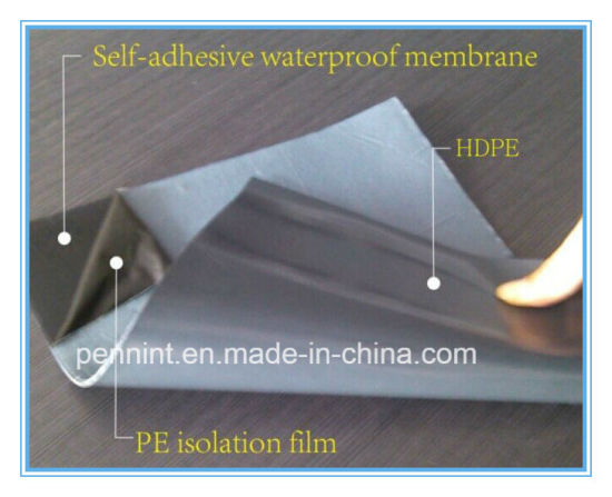 Self Adhesive Hdpe Waterproofing Membrane For Bat Foundation Underground Structure