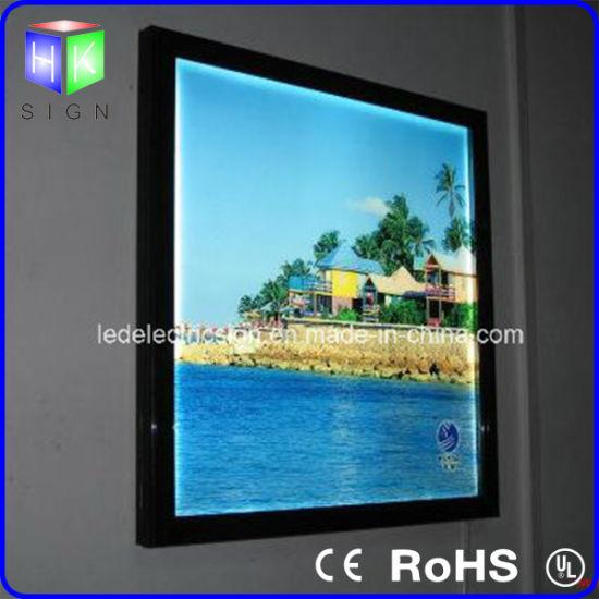 China Interior Wall Hanging Photo Frame for LED Light Box Panel ...