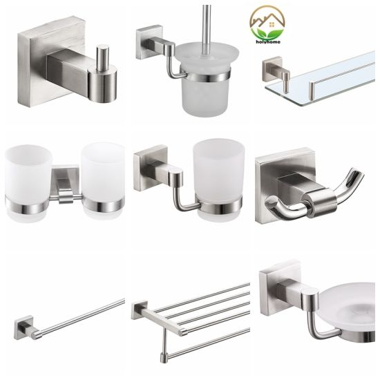 Wholesale High Quality Stainless Steel 304 Hotel Bathroom Accessories Set