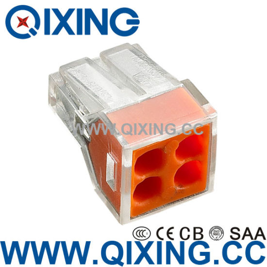 China Ce 309 4 Gang Wago Type Push in Wire Stainles Steel or Copper ...
