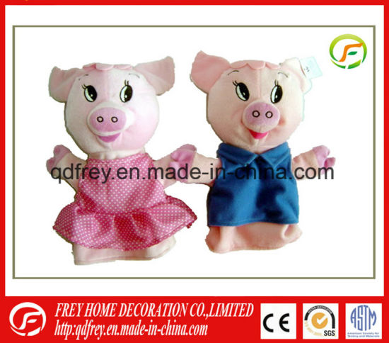 Hot Sale Baby Gift Toy for Plush Pig Hand Puppet