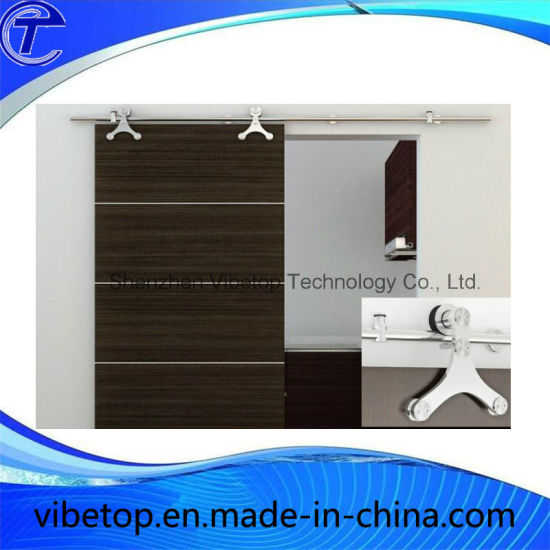 China Wooden Glass Barn Door Track System Sliding Fitting Kits