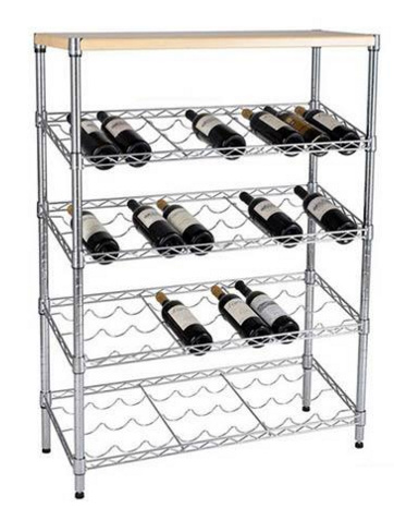 Popular Metal Wire Clothes Retail Wholesale Glass Exhibition Wine Floor Computer Display Garment Hanger Plate Fruit Rack Fot Store Factory pictures & photos