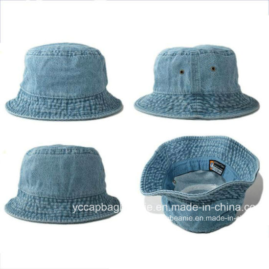 bff0090e601 China Promotional High Quality Custom Blank Jean Bucket Hat - China ...