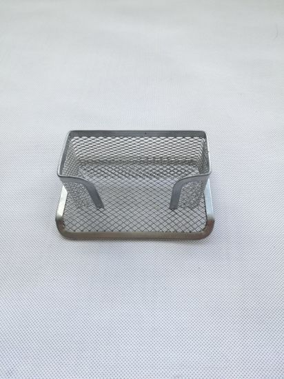 Metal Mesh Office Stationery Supplier Desktop Organizer Namecard Holder