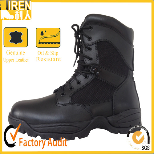Black Genuine Leather Good Wear Army Boot Military Tactical Combat Boot pictures & photos