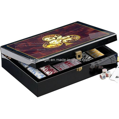 Wooden Poker Chip Case - Hold 300 Chips pictures & photos