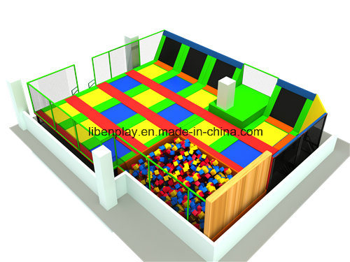 Unique Design Outdoor Children Trampoline Park with Basketball Hoop pictures & photos
