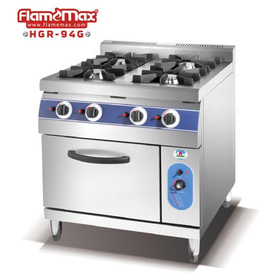 4 Burner Gas Freestanding Cooker Hotel Gas Stove Price (HGR-94G)