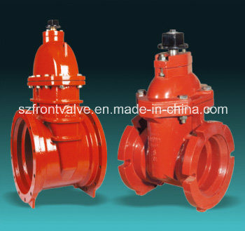 Awwa Ductile Iron Resilient Seat Gate Valve-Rising Stem
