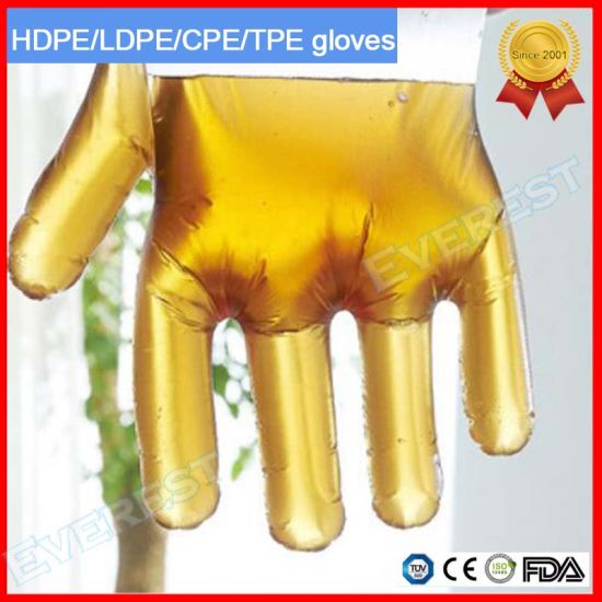 Disposable Poly/HDPE/ LDPE/CPE/TPE/Polyethylene/PE Gloves, Disposable Gloves, CPE Gloves, TPE Gloves, HDPE Gloves, LDPE Gloves, Polyethylene/Polythene Gloves