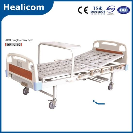 CE Approved Single-Crank Manual Hospital Bed