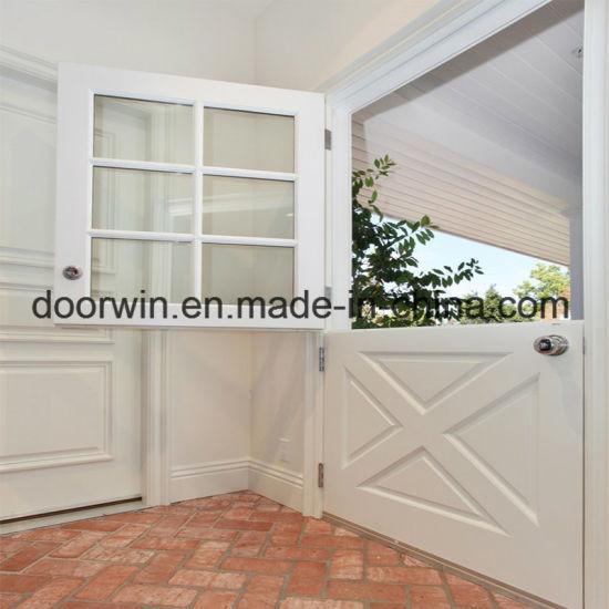 North Standard Wood Doors Entry Door Dutch Door White Color Pine Wood Frame  With Glass