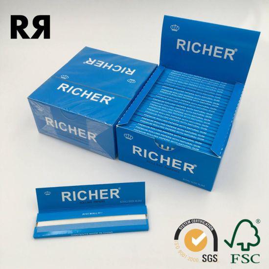 China 13gsm Custom Logo Smokingtobacco Hemp Rolling Papers China